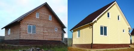 До и после отдели сайдингом. Дом в Евпатории
