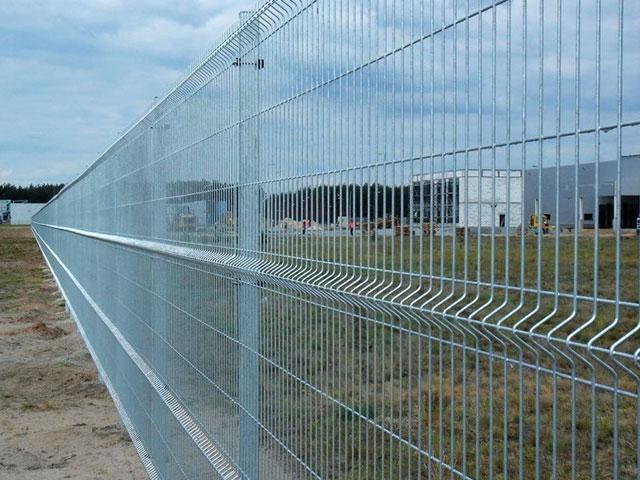 3D забор с покрытием из оцинковки для ограждения предприятия в Керчи, Феодосии