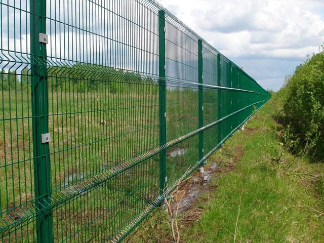 Зелёный 3D забор (оцинкованный, с полимерным покрытием) в Белогорске и Судаке