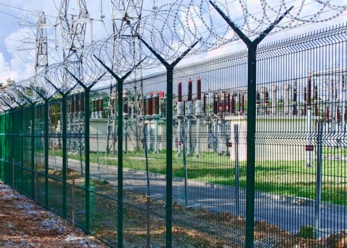 Купить 3D забор (зелёный) для ограждения подстанции в Саках, Евпатории, Черноморском