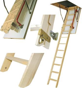 Принцип работы чердачной лестницы FAKRO