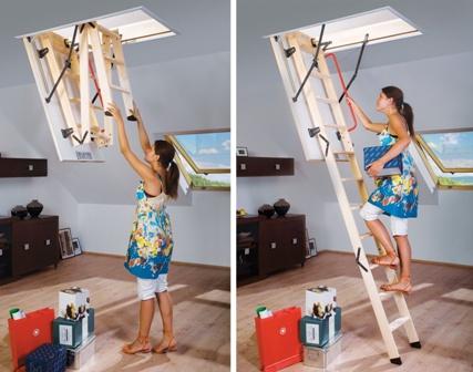Чердачная лестница FAKRO: механизм работы