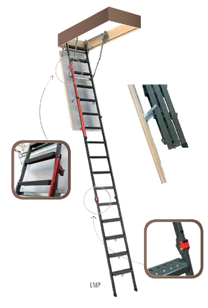 Металлическая чердачная лестница: конструкция