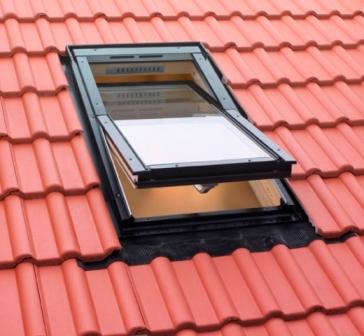 Мансардное окна - вид сверху