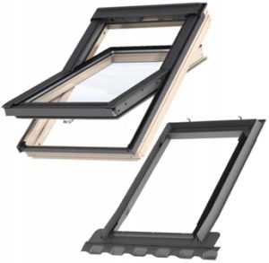 Конструкция деревянного окна  Velux  стандарт