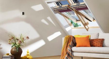мансардные окна Velux в интерьере
