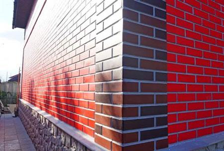 Фасадные панели под кирпич. Отделка частного дома в Судаке