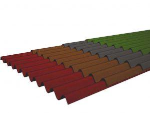 Листы разноцветного ондулина