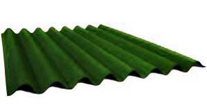 Лист ондулина зеленого цвета